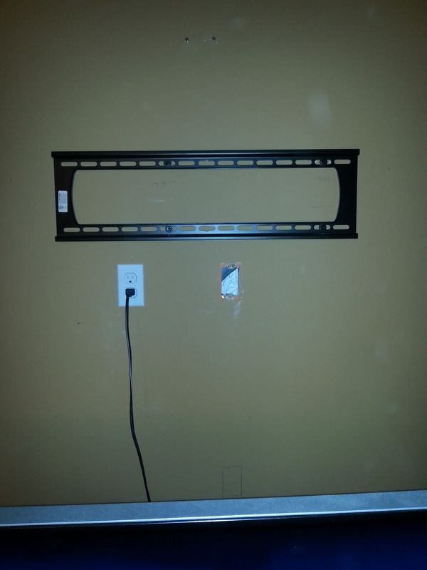 Install an AC Outlet and the electrical wiring. Install an outlet for the component wiring to conceal the wires in the wall behind the TV. : wall mount tv wiring - yogabreezes.com